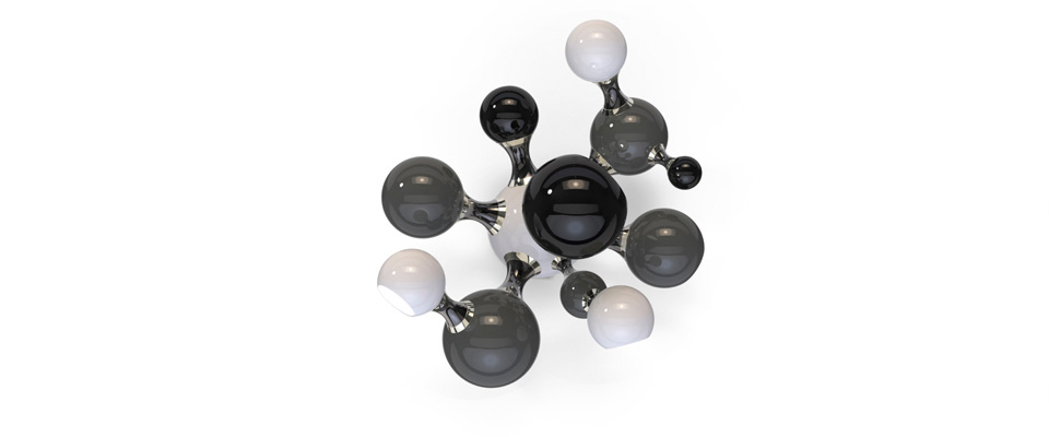 Atomic  Sconce  Delightfull Love Happens