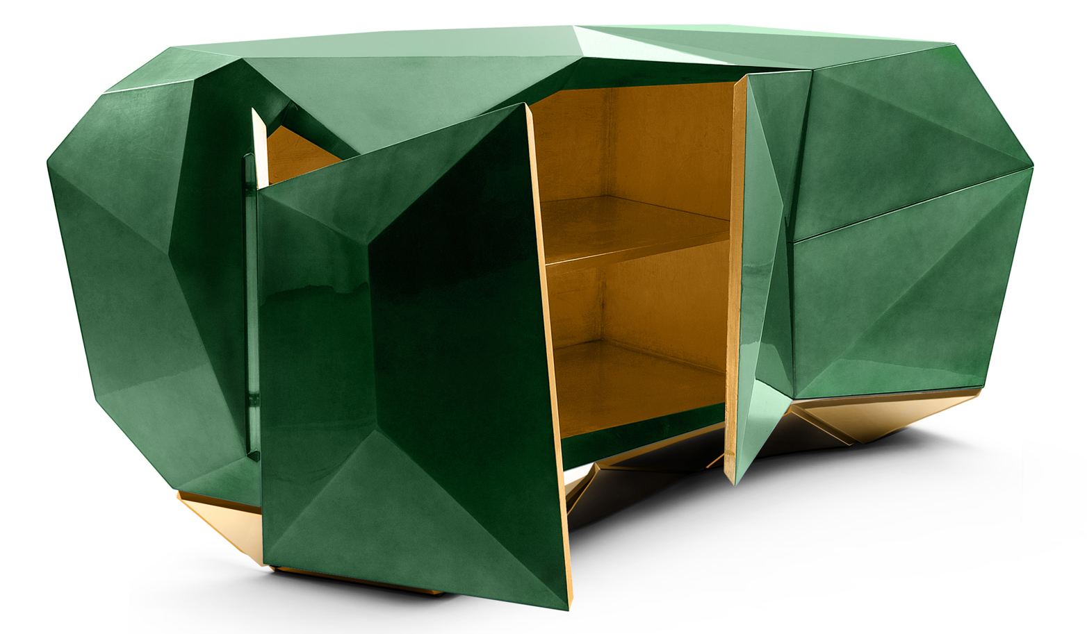 diamond emerald sideboard by boca do lobo demorais international. Black Bedroom Furniture Sets. Home Design Ideas
